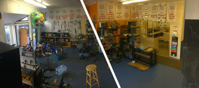 Bike Garage Before and After