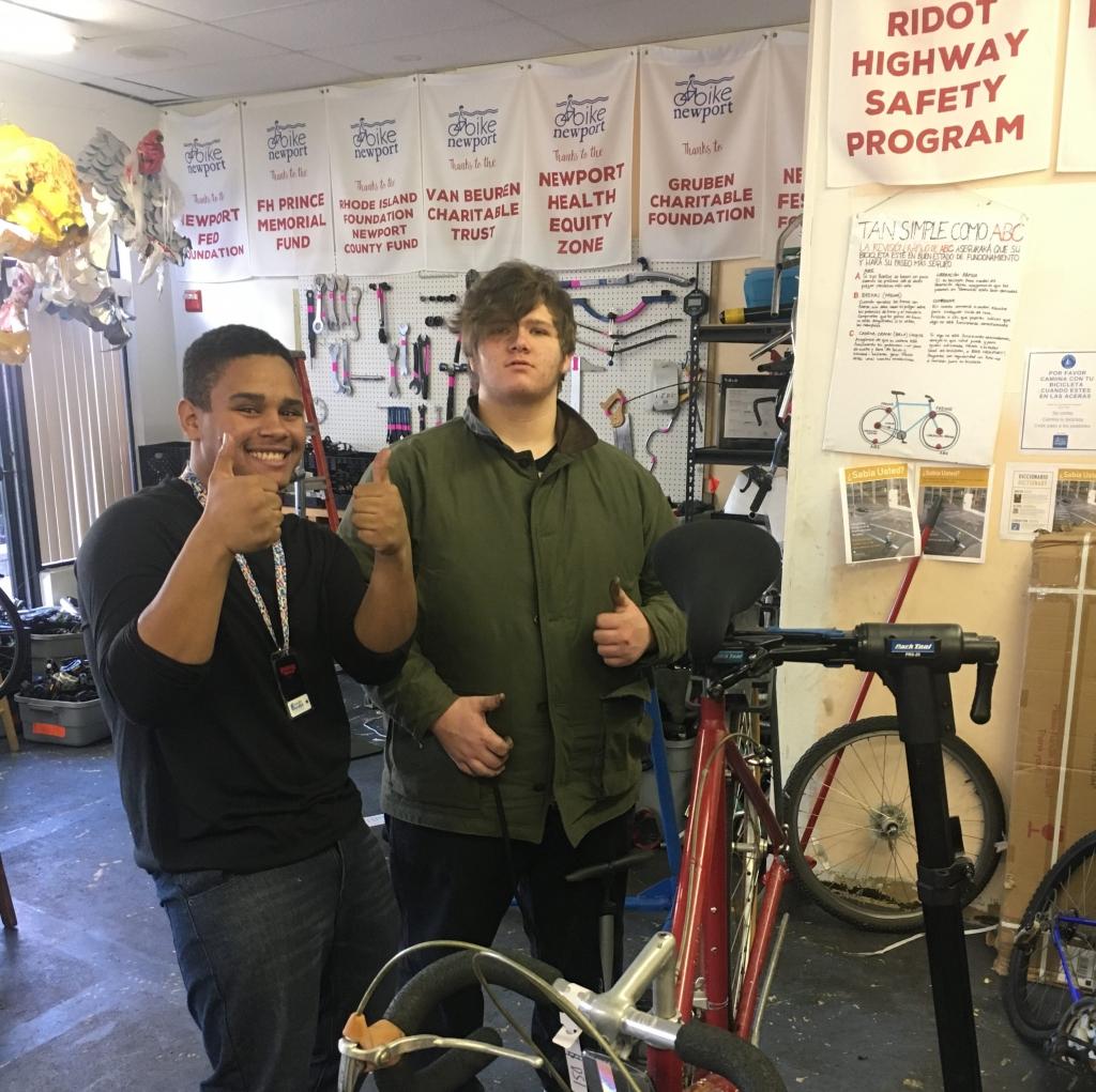 Bike Garage interns