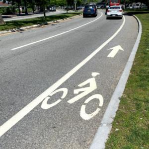 Bike lane road marking