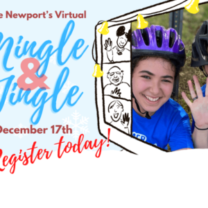 Mingle Jingle event announcement poster