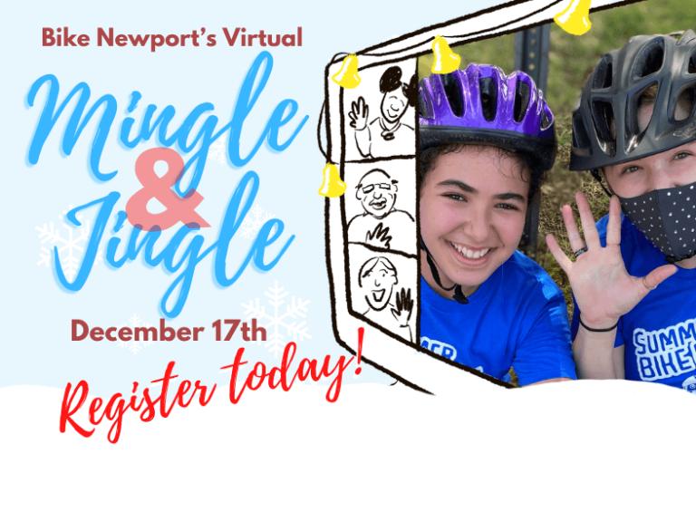 Mingle Jingle event announcement poster