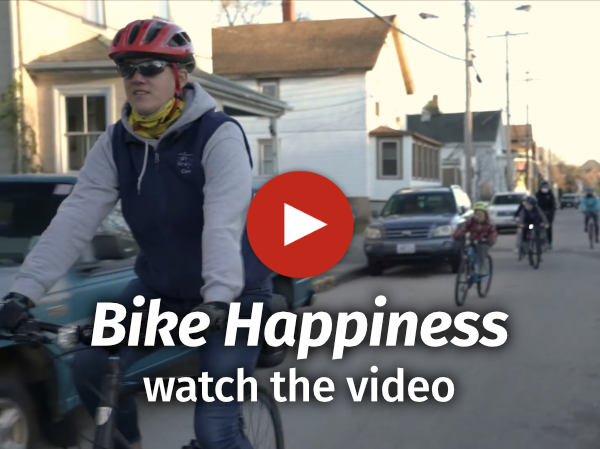 Video capture of riders with play button